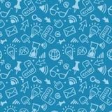 Άνευ ραφής διανυσματικό σχέδιο υποβάθρου doodle Στοκ Εικόνες