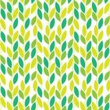 Άνευ ραφής διανυσματικό σχέδιο φύσης με τις αμπέλους και τα φύλλα Στοκ Εικόνα
