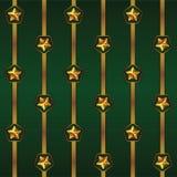 Άνευ ραφής διανυσματικό σχέδιο Cristmas με τα λωρίδες και τα αστέρια Στοκ Εικόνα