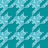 Άνευ ραφής διανυσματικό σχέδιο Houndstooth στα τυρκουάζ χρώματα απεικόνιση αποθεμάτων