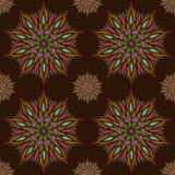 Άνευ ραφής διανυσματικό σχέδιο mandala Ινδικά, θιβετιανά, οθωμανικά μοτίβα Στοκ Εικόνα
