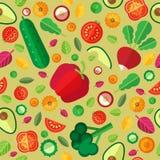 Άνευ ραφής διανυσματικό υπόβαθρο με τα λαχανικά Στοκ Εικόνα