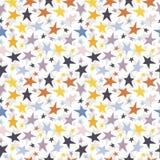 Άνευ ραφής διανυσματικό υπόβαθρο με τα ζωηρόχρωμα αστέρια Στοκ Φωτογραφίες