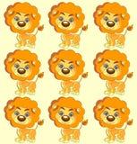 Άνευ ραφής διανυσματικό χαριτωμένο λιοντάρι σύστασης Στοκ φωτογραφία με δικαίωμα ελεύθερης χρήσης