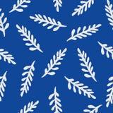 Άνευ ραφής διανυσματικό floral γκρίζο σχέδιο Στοκ εικόνες με δικαίωμα ελεύθερης χρήσης