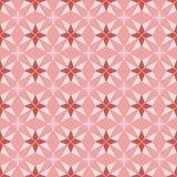 Άνευ ραφής διανυσματικό floral σχέδιο γεωμετρίας στο ρόδινο υπόβαθρο διανυσματική απεικόνιση