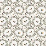 Άνευ ραφής διανυσματικό floral σχέδιο του κυρτού ελατηρίου Στοκ εικόνες με δικαίωμα ελεύθερης χρήσης