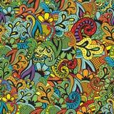 Άνευ ραφής διανυσματικό floral σχέδιο ελεύθερη απεικόνιση δικαιώματος