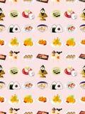 Άνευ ραφής ιαπωνικό πρότυπο τροφίμων απεικόνιση αποθεμάτων