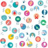Άνευ ραφής ιατρική υγειονομική περίθαλψη σχεδίων, νοσοκομείο υπηρεσιών ιατρικής Στοκ εικόνα με δικαίωμα ελεύθερης χρήσης