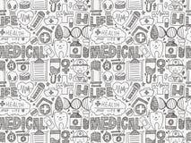 Άνευ ραφής ιατρικό σχέδιο doodle Στοκ φωτογραφίες με δικαίωμα ελεύθερης χρήσης