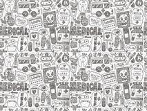 Άνευ ραφής ιατρικό σχέδιο doodle Στοκ φωτογραφία με δικαίωμα ελεύθερης χρήσης