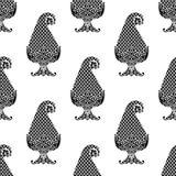 Άνευ ραφής ινδικό μαύρο άσπρο σχέδιο του Paisley απεικόνιση αποθεμάτων