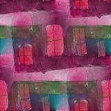 Άνευ ραφής ιώδης, ρόδινος, πράσινος κυβισμός καλλιτεχνών ελεύθερη απεικόνιση δικαιώματος