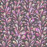 Άνευ ραφής κάθετο πρότυπο με τη φυσική διακόσμηση. Στοκ Εικόνα