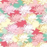 Άνευ ραφής κάρτα λουλουδιών λωτού Στοκ Εικόνες