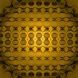 Άνευ ραφής κίτρινος χρυσός καφετής σχεδίων κύκλων που κεντροθετείται Στοκ Φωτογραφίες