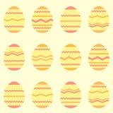 Άνευ ραφής κίτρινο σχέδιο άνοιξη αυγών Πάσχας απεικόνιση αποθεμάτων