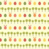 Άνευ ραφής κίτρινο σχέδιο άνοιξη αυγών Πάσχας ελεύθερη απεικόνιση δικαιώματος