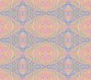 Άνευ ραφής κανονικό αναδρομικό ρόδινο μπλε σχεδίων απεικόνιση αποθεμάτων