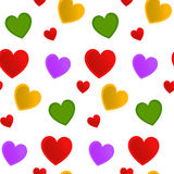 Άνευ ραφής καρδιά σχεδίων με ένα λευκό Στοκ εικόνες με δικαίωμα ελεύθερης χρήσης