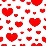 Άνευ ραφής καρδιά σχεδίων σε ένα άσπρο υπόβαθρο Στοκ Εικόνες