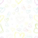Άνευ ραφής καρδιά υποβάθρου σχεδίων Διανυσματική ταπετσαρία Στοκ εικόνα με δικαίωμα ελεύθερης χρήσης