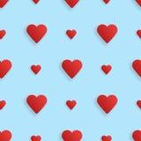 Άνευ ραφής καρδιές σχεδίων realistick διάνυσμα Διανυσματική απεικόνιση