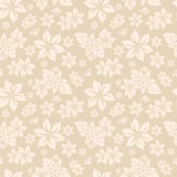 άνευ ραφής κατασκευασμένη ταπετσαρία λουλουδιών Στοκ εικόνες με δικαίωμα ελεύθερης χρήσης
