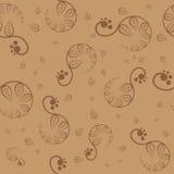 Άνευ ραφής καφετί floral σχέδιο. Διάνυσμα Στοκ φωτογραφία με δικαίωμα ελεύθερης χρήσης