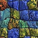 Άνευ ραφής καλλιτεχνικά κεραμίδια με τους παφλασμούς χρωμάτων Στοκ Εικόνες