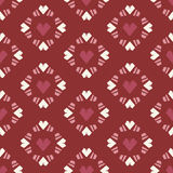 Άνευ ραφής κεραμίδι καρδιών σχεδίων στο κόκκινο υπόβαθρο ελεύθερη απεικόνιση δικαιώματος