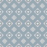 Άνευ ραφής κεραμίδι καρδιών σχεδίων στο μπλε υπόβαθρο διανυσματική απεικόνιση