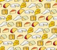 Άνευ ραφής υπόβαθρο τυριών κινούμενων σχεδίων Στοκ Φωτογραφία