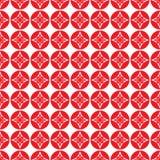 Άνευ ραφής κινεζικό υπόβαθρο σχεδίων, κόκκινο αφηρημένο διάνυσμα λουλουδιών ελεύθερη απεικόνιση δικαιώματος