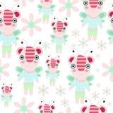 Άνευ ραφής κινούμενα σχέδια teddy - μέλισσα Στοκ Φωτογραφία