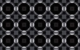 Άνευ ραφής κομψό γεωμετρικό τρισδιάστατο σχέδιο δαχτυλιδιών στην γκρίζα κλίμακα ελεύθερη απεικόνιση δικαιώματος