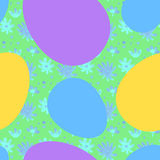 Άνευ ραφής κορδέλλα-τυλιγμένο σχέδιο αυγών Πάσχας Στοκ εικόνα με δικαίωμα ελεύθερης χρήσης
