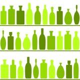 άνευ ραφής κρασί μπουκαλιών ανασκόπησης Στοκ Φωτογραφία