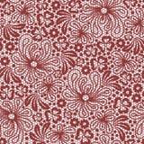 Άνευ ραφής κόκκινη δαντέλλα Στοκ Φωτογραφίες