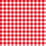 Άνευ ραφής κόκκινη ελεγμένη σύσταση υποβάθρου σχεδίων υφάσματος Στοκ Εικόνα