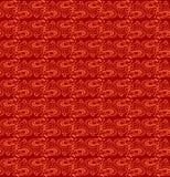 Άνευ ραφής κόκκινη σύσταση ύφους μπατίκ Στοκ φωτογραφία με δικαίωμα ελεύθερης χρήσης