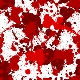 Άνευ ραφής κόκκινο αιματηρό σχέδιο splats Στοκ Φωτογραφία