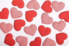 Άνευ ραφής κόκκινο πρότυπο καρδιών Στοκ Φωτογραφία