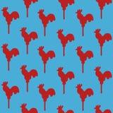 Άνευ ραφής κόκκορας σχεδίων lollipop Στοκ Εικόνες