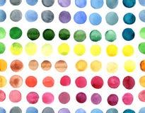 Άνευ ραφής κύκλοι watercolor σχεδίων jf ζωηρόχρωμοι Στοκ Φωτογραφία