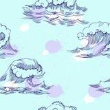 άνευ ραφής κύματα προτύπων Στοκ Φωτογραφία