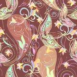 Άνευ ραφής κλασικό σχέδιο oldfashion με τις πεταλούδες paisleyand Στοκ φωτογραφίες με δικαίωμα ελεύθερης χρήσης