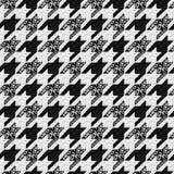 Άνευ ραφής κλασικό ύφασμα houndstooth, σχέδιο παρδαλός-de Στοκ Εικόνα