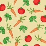 άνευ ραφής λαχανικά προτύπ&omeg διανυσματική απεικόνιση
